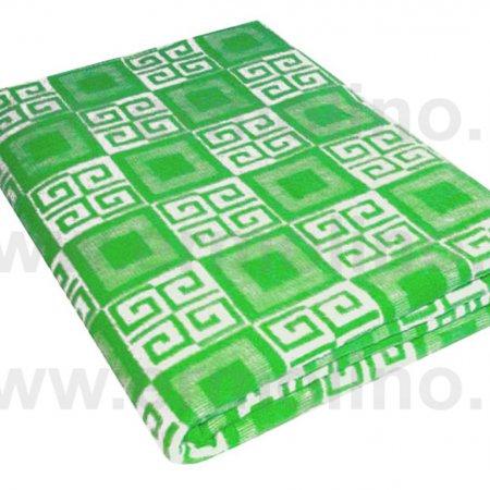 Одеяло байковое жаккард зел. «Ермолино» 150х215 всесезонное, АльВиТек