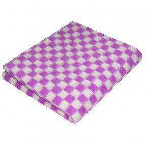Одеяло байковое фиолет. «Ермолино» 100*140 всесезонное