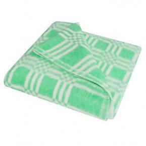 Одеяло байковое зел. «Ермолино» 100*140 всесезонное, АльВиТек