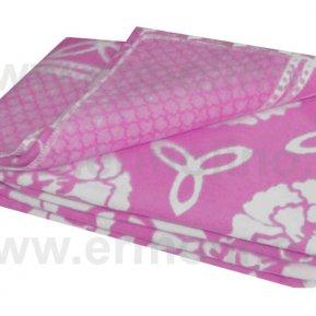 Одеяло байковое жаккард Лиловое «Ермолино» 150*215 всесезонное, АльВиТек