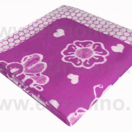 Одеяло байковое жаккард сир. «Ермолино» 100х140 всесезонное, АльВиТек