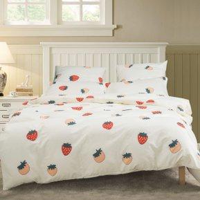 «A-187» 1,5 - спальное постельное белье, Поплин, СайлиД