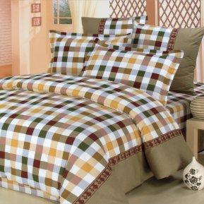 «A-84» двуспальное постельное белье, Поплин, СайлиД