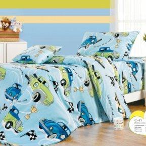 «C45» 1,5 - спальное постельное белье, ПОПЛИН, СайлиД
