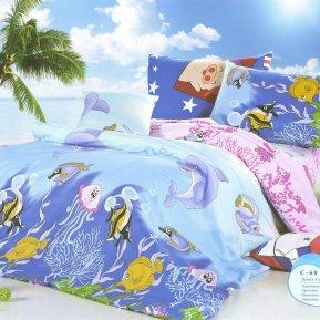 «C60» 1,5 - спальное постельное белье, ПОПЛИН, СайлиД