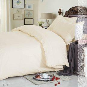 «J-7-B» двуспальное с европростыней постельное белье, Поплин, СайлиД