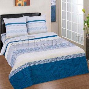 «Августин» двуспальное с европростыней постельное белье, ПОПЛИН, Арт Дизайн
