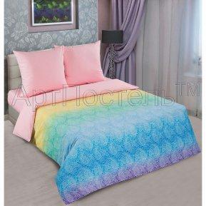 «Лазурь (роза)» двуспальное с европростыней постельное белье, ПОПЛИН, Арт Дизайн