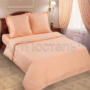 «Персик» семейное (на резинке) постельное белье, ПОПЛИН, Арт Дизайн