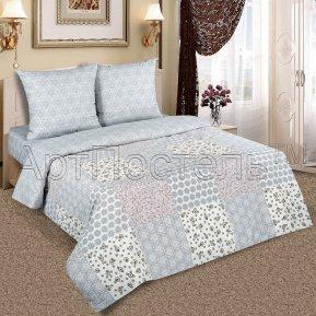 «Юдора» 1,5 - спальное (на резинке) постельное белье, ПОПЛИН, Арт Дизайн