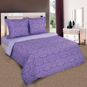 «Византия (фиолет)» двуспальное (на резинке) постельное белье, ПОПЛИН, Арт Дизайн