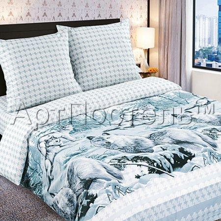 Постельное белье «Белый клык» 1,5 - спальное, Поплин, Арт Дизайн