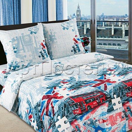 Постельное белье «Британия» семейное, Поплин, Арт Дизайн