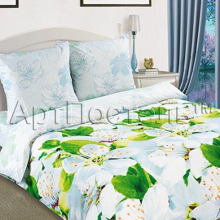 Постельное белье «Цветущий май» 1,5 - спальное, Поплин, Арт Дизайн