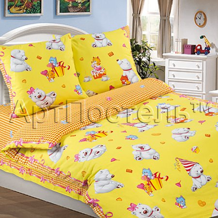 «День рождения» 1,5 - спальное постельное белье, Поплин, Арт Дизайн