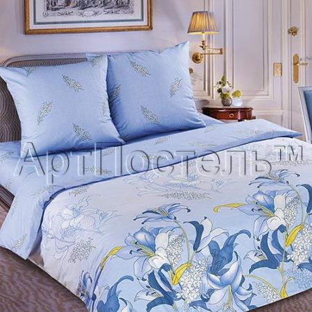 Постельное белье «Дикая орхидея» двуспальное с европростыней, Поплин, Арт Дизайн