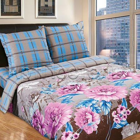 Постельное белье «Голуби» двуспальное с европростыней, Поплин, Арт Дизайн