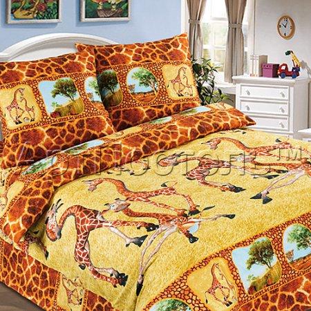 «Жирафы» 1,5 - спальное постельное белье, Поплин, Арт Дизайн