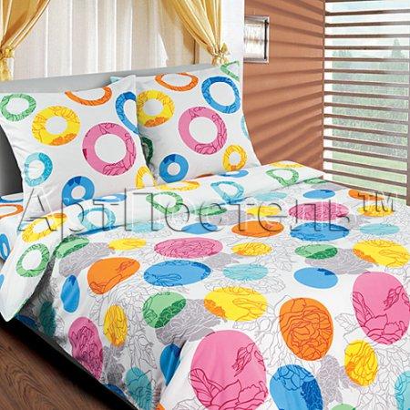 Постельное белье «Конфетти» 1,5 - спальное, Поплин, Арт Дизайн