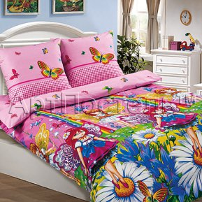 «Маленькая фея» 1,5 - спальное постельное белье, ПОПЛИН, Арт Дизайн