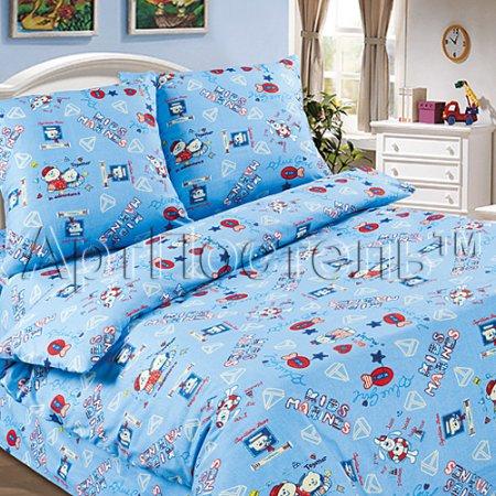 «Морской» 1,5 - спальное постельное белье, Поплин, Арт Дизайн