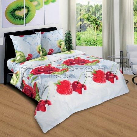 Постельное белье «Наслаждение» двуспальное с европростыней, Поплин, Арт Дизайн