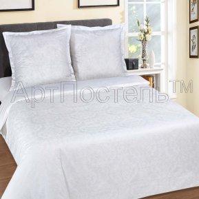 «Византия (белый)» семейное постельное белье, ПОПЛИН, Арт Дизайн