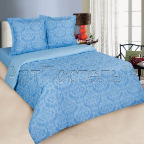 «Византия (голубой)» семейное постельное белье, ПОПЛИН, Арт Дизайн