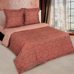 «Византия (коричневый)» двуспальное с европростыней постельное белье, ПОПЛИН, Арт Дизайн