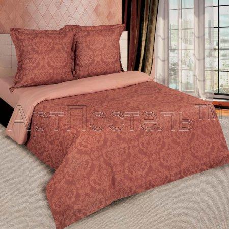 Постельное белье «Византия (коричневый)» двуспальное с европростыней, Поплин, Арт Дизайн