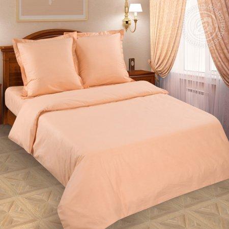 Постельное белье «Персик» 1,5 - спальное (на резинке), Поплин, Арт Дизайн