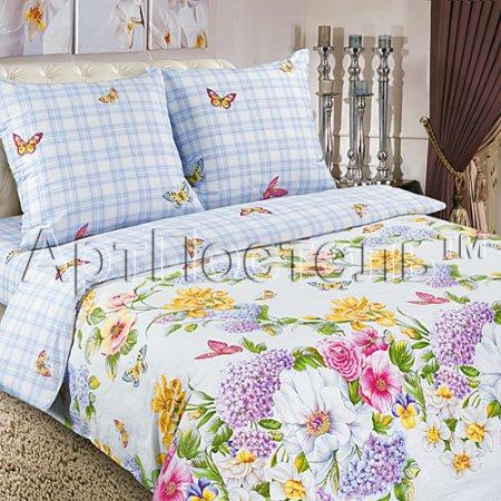 Постельное белье «Райский сад» двуспальное с европростыней, Поплин, Арт Дизайн
