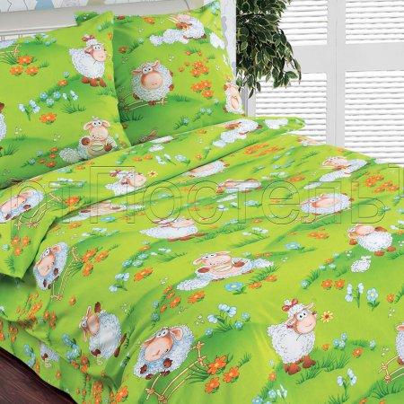 «Веселая лужайка» 1,5 - спальное постельное белье, Поплин, Арт Дизайн