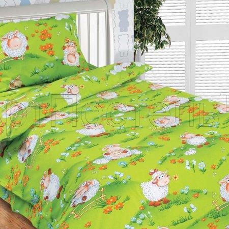 «Веселая лужайка» дет. кроватка постельное белье, Поплин, Арт Дизайн