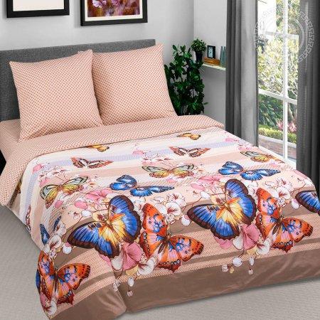Постельное белье «Алекса» двуспальное с европростыней, Поплин, Арт Дизайн