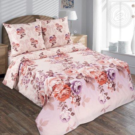 Постельное белье «Карамельная роза» семейное, Поплин, Арт Дизайн