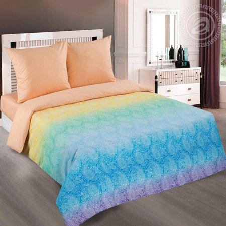 Постельное белье «Лазурь (персик)» 1,5 - спальное, Поплин, Арт Дизайн