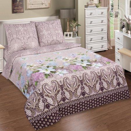 Постельное белье «Сантимент» двуспальное с европростыней, Поплин, Арт Дизайн