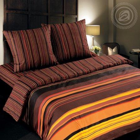 Постельное белье «Шоколад» двуспальное с европростыней, Поплин, Арт Дизайн