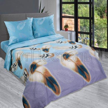 Постельное белье «Перья» 1,5 - спальное, Поплин, Арт Дизайн
