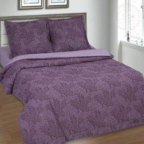 Постельное белье Вирджиния фиолетовая 2,0 (на резинке)