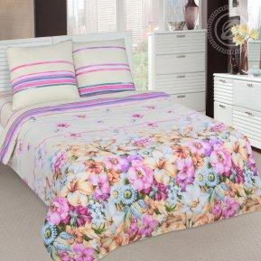 «Амариллисы» двуспальное с европростыней постельное белье, Поплин, Арт Дизайн