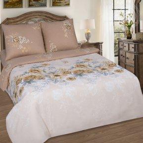 «Лирика» двуспальное с европростыней постельное белье, Поплин, Арт Дизайн