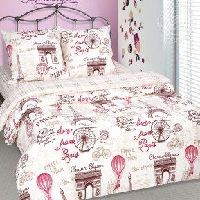 «Прогулка по Парижу» семейное постельное белье, Поплин, Арт Дизайн