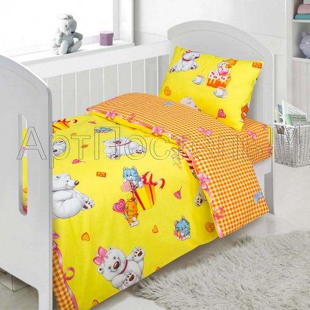 «День рождения №2» дет. кроватка постельное белье, Поплин, Арт Дизайн