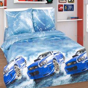 «Форсаж» 1,5 - спальное постельное белье, ПОПЛИН, Арт Дизайн