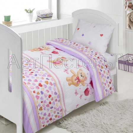 «Малыш» дет. кроватка постельное белье, Поплин, Арт Дизайн