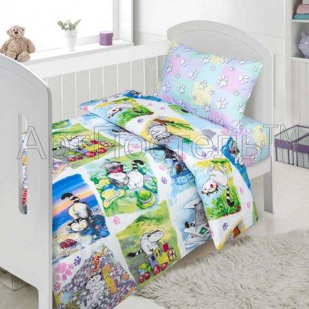 «Мурзик» дет. кроватка постельное белье, Поплин, Арт Дизайн