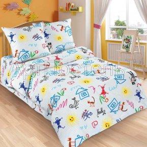 «Переменка» 1,5 - спальное постельное белье, ПОПЛИН, Арт Дизайн