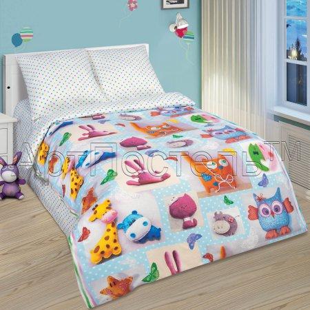 «Плюшевый мир» 1,5 - спальное постельное белье, Поплин, Арт Дизайн